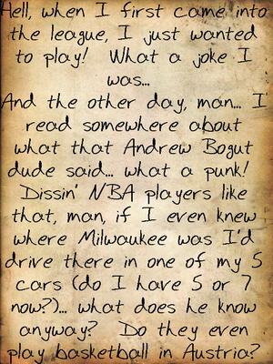 writings of an imaginary NBA player… maybe (2/2)