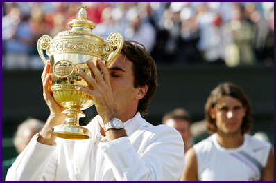 Federer's Fifth consecutive Wimbledon win…
